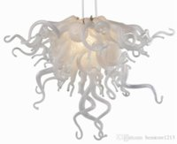 Contemporary Art Deco Chandelier White Color and Edison Bulb Light Source Popular Murano Glass Chandelier for Wedding Centerpieces