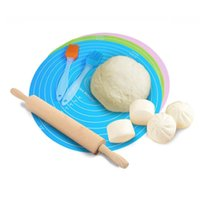 Tampon de cuisson multifonctions rond DIY silicone de silicone de gâteau de gâteau tapis nouilles outil de cuisson de cuisine accessoires de cuisine roulants Pâtres pâtisseries