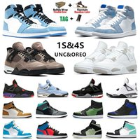 Retro 1 Jumpman 1 Mens Basketball Shoes Travis Scott Shattered Backboard UNC 1s Gold Top 3 Cactus Jack Obsidian Banned Bred Toe Men Women trainer 스포츠 스니커즈