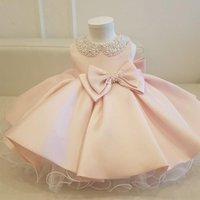 Girl's Dresses Handmade Formal Born Baptism Dress Gown 1st Birthday For Baby Girl Ceremony Princess Wedding
