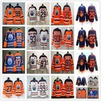 2020 Nuevo Edmonton Oilers Hockey 97 McDavid Jersey 29 Leon Draisait 99 Wayne Gretzky 93 Ryan Nugent-Hopkins 27 Milan Lucic Cam Talbot Jerseys