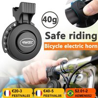 Bike Horns Cycling MTB Mountain Road Electronic Horn USB Rechargeable Electric Scooter Bicycle Handlebar Sound Alarm Ring Bell Outdoor