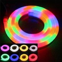 스트립 고품질 LED 플렉스 네온 로프 라이트 방수 IP68 80LED / M F5 유연한 스트립 RGB / 따뜻한 / 차가운 / 전구 / GREE 10M / LOUN