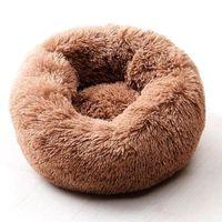 Kennels Bells Willstar Bed de perro Invierno Cálido Largo Peluche Camas para dormir Soild Color Soft Pet Dogs Cat Mat Mathing Supplies