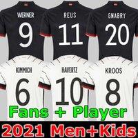 Allemagne Jersey de football 20 21 2021 Version du joueur aux fans Hummels Kroos Gnabry Werner Draxler Reus Reus Muller Getze Coupe européenne Temple de football Uniformes Hommes + Kids Kit