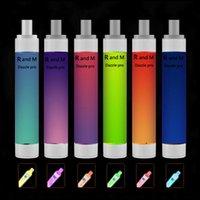 우수한 품질 일회용 전자 담배 R 및 M Dazzle Pro Vape 펜 장치 전자 담배 2600 퍼프 포드 다채로운 플래시 라이트 충전식 1100mAh