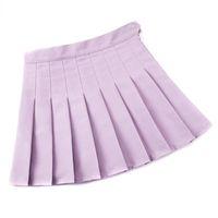 Skirts Girls Women High Waisted Plain Pleated Skirt Skater Tennis School Uniforms A-line Mini With Lining Shorts A66