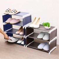 3 4 5 Tiers Metal Frame Shoes Rack Organizer Stand Dustproof...