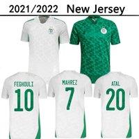 Algerie 2021 Home Whiled Away Elects Green Футбол Джетки Mahrez Feghouli Bennacer Atal 20 21 Футболка Алжир Мужчины Maillot de op