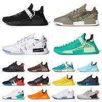 أحذية Pharrell Williams x adidas NMD Human Race Hu Trail R1 v2 احذية رجالية Black Speckled Aqua Tones Dazzle Camo Japan White أحذية رياضية