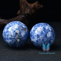 Azul Sodalite Sephere Crystal Crystal Cura Esfera Meditação Decoração