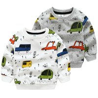 Kids Boys Hoodies 2020 New Fashion Spring Autumn O-Neck Long Sleeve Full Print Bus Pullover Casual Sweatshirts For Boys 2-10Year G0917