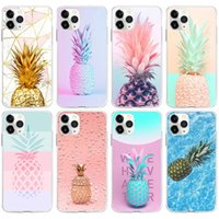Slim Fruit Pineapple Phone Cases Soft Silicon TPU Transparent Case Summer Fresh Cute Cover for Apple 7 8PLUS XR X MAX 11 12