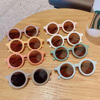 2021 Дети Милые Мультфильм Солнцезащитные очки Детей Круглые Очки Baby Мода Цвета Открытый Открытый Sunshade Мальчики Девочки Очки