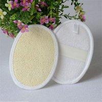Soft Exfoliating Natural Loofah Sponge Strap Bath Handle Almofada Massagem Massagem Escova Escova Corpo Pele Banhando Spa Acessórios de Lavagem 2088 V2