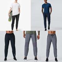 Designer autumn lulu long pants men sport Quick dry running align yoga outdoor gym pockets slim fit sweatpants pant jogger trousers mens casual elastic waist