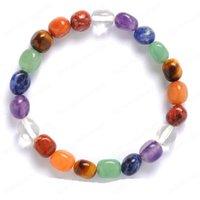 Unregelmäßiger natürlicher Kristall Stein Strangs Handgemachte Perlen Yoga Charm Armbänder für Frauen Männer Party Decor Club Energy Schmuck