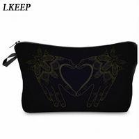 2019 Love Heart Pattern Women Clutch Cosmetic Bag Make Up Organizer Fashion Women Printing Multifunction Portable Makeup Bags H87T#