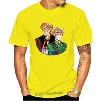 남성용 T 셔츠 남성 Tshirt 짧은 소매 usuk hetalia 유니섹스 티셔츠 O 넥 여성 티셔츠