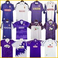 Fiorentina Retro Fútbol Jersey 91 92 93 94 95 96 97 98 99 00 Batistuta Rui Costa Costa Vintage Home Football Shirt 2000 Camisas de Futbol