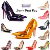 Red Bottom Heels Women Dress Shoes Luxurys Designers Så Kate High Heel 8cm 10cm 12cm med stor storlek 35-44 Point Toe Pumps Loafers