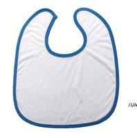 Sublimation Blank Baby Bibs Heat Transfer Handkerchief DIY Blanks Saliva Towel Polyester Cotton Newborn Burp Cloths Infant Cotton DWE7232