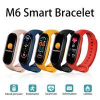 ل xiaomi m6 الذكية سوار ووتش الفرقة اللياقة تعقب القلب معدل ضغط الدم مراقبة ضغط الدم 5 شاشة اللون الذكية معصمه الرياضة