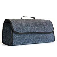 Car Organizer Trunk Foldable Storage Bag Box Cargo Portable Gray Felt Large Anti Slip Tool Holder Organiser Case