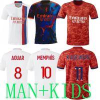 21 22 Maillot Lyon 2021 الرقمية الرابع أولمبيك Lyonnais Soccer Jerseys Away 4 Th 2022 OL قمصان كرة القدم Traore Memphis Men Kids Kits Home Equipment Bruno G