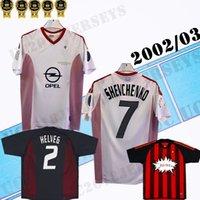 2002 2003 2004 2005 SHEVCHENKO # 7 3RD MILAN AWSTALL Retro Futbol Formaları Kaka Rivaldo # 11 Maldini Gattuso Rui Costa Pirlo 02 03 Ev Klasik Futbol Gömlek