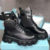 Новые женщины Rois Boots Nylon Derby Martin Boots Top Quality Battle кожаные ботинки лодыжки черные резиновые соль платформы обувь нейлоновая сумка с коробкой