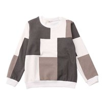 Children's new style T-shirt Boy's casual long sleeve T-shirt Sweater for boy plaid pattern Children's fashion long-sleeved vest G0917