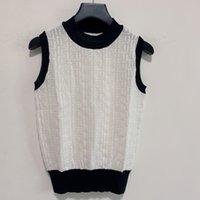 Milan Pist Kazak 2021 Yeni Kolsuz O Boyun High End Jakarlı Kazaklar Kadın Tasarımcı T-Shirt 0416-14