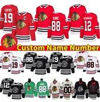 Chicago Blackhawks Custom Jersey 29 Marc-Andre Fleury 35 Patch Honor 2 Duncan Keith 88 Patrick Kane 4 Seth Jones 50 Clark Griswold Jonathan Toews Kirby Dach Hockey