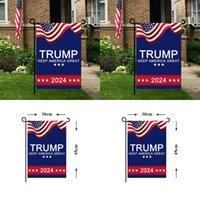 Banderos electorales Banderas 2024 Trump Garden Campaign for Bander President EE. UU. Banners Mantenga América GRANDE 45 * 30 CM 3 49CD Q2