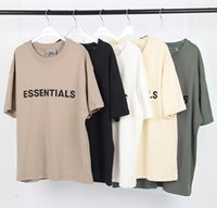 20ss Ins Sıcak İlkbahar Yaz Hip Hop Tanrı Tanrı Korkusu Ön Essentials 3D Silikon Tee Kaykay Tshirt Sis Erkek Kadın Kısa Kollu Rahat T Gömlek