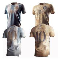 Top Quality 21/22 Argentina Futebol Jerseys Home Maradona Edição Comemorativa 2021 2022 # 10 Messi 200º Aniversário Dybala Aguero Martinez Camisa de Futebol Uniformes