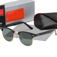 2021 أزياء راي نظارات شمسية خمر الطيار العلامة التجارية الفرقة uv400 حماية رجل إمرأة مصمم خارج الدراجات أزياء نظارات الشمس مع القضية 3016