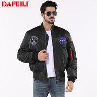 Пилотная куртка Vafeili Air Force пилотная хлопковая мягкая куртка вышивка зима толстый мужской хип-хоп черный большая куртка США