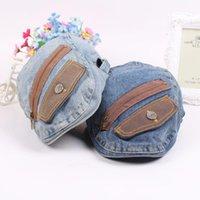 Berets Fashion Denim Patch Beret Women's Hat Vintage Cap Men Boinas Gorras Hats Casquette Flat Caps