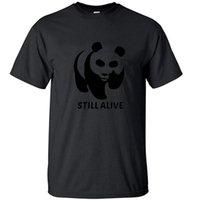Camisetas para hombres Kawaii Panda china sigue siendo vendimia camiseta de algodón Vintage fresco camisetas divertidas retro manga corta top hombres roca camiseta camiseta