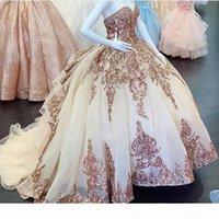 Charro Blush Quinceanera Dresses with Rose Gold Applque Sequin vestidos de 15 a?os Off Shoulder Sweet 16 Dress