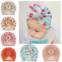 Fruit Print Beanie Cap Nouveau-né bébé Bébé Été Mode mignon Turban Chapeaux doux doux Casquettes élastiques pour enfants Bonnets de cheveux