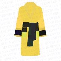 Pamuk Erkekler Kadınlar Bornoz Pijama Uzun Robe Mektup Baskı Çiftler Sleeprobe Gecelik Kış Sıcak Unisex Pijama 5 Renkler
