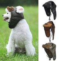 Piloto de perro cálido sombrero gorra de cuero gorras para perros gorras de mascotas Productos Cosplay divertido Halloween Chihuahua Ropa