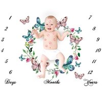Super Cute Nordic Style Baby Photo Sheet White Ground Letter Flower Printed Sheet Photo Backdrop Photography Prop Shoots Sheets 113 Z2