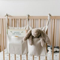 Bedside Storage Bag Baby Crib Organizer Hanging for Dormitory Bed Bunk Hospital Rails Book Toy Diaper Pockets Holder