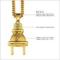 I più nuovi gioielli in metallo 18 carati Placcato Goldon Placcato Punti Pendenti Pendenti Twist Catena Collana Hipsters Hip Hop Uomini Donne Amanti Bijoux Coppia Joyas 257 J2