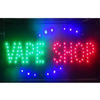 도매 2021 직접 판매 led vape shop sign 전자 담배 쇼핑의 사용자 정의 네온 징후 19 * 10 인치