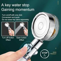 Shower Head Water Saving Flow 360 Degrees Rotating With Small Fan ABS Rain High Pressure spray Nozzle Hand-held Massage Shower H0911